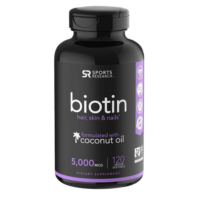Sports Research Biotin with Virgin Coconut Oil